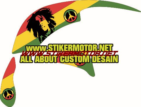 decal motor scooppy bob marley