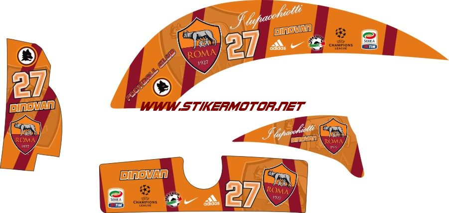 striping motor scoopy as roma