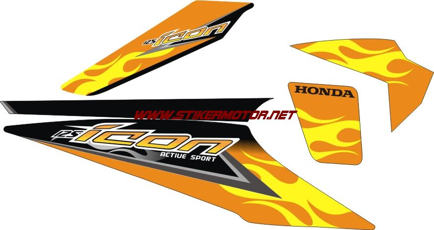 honda beat icon flame