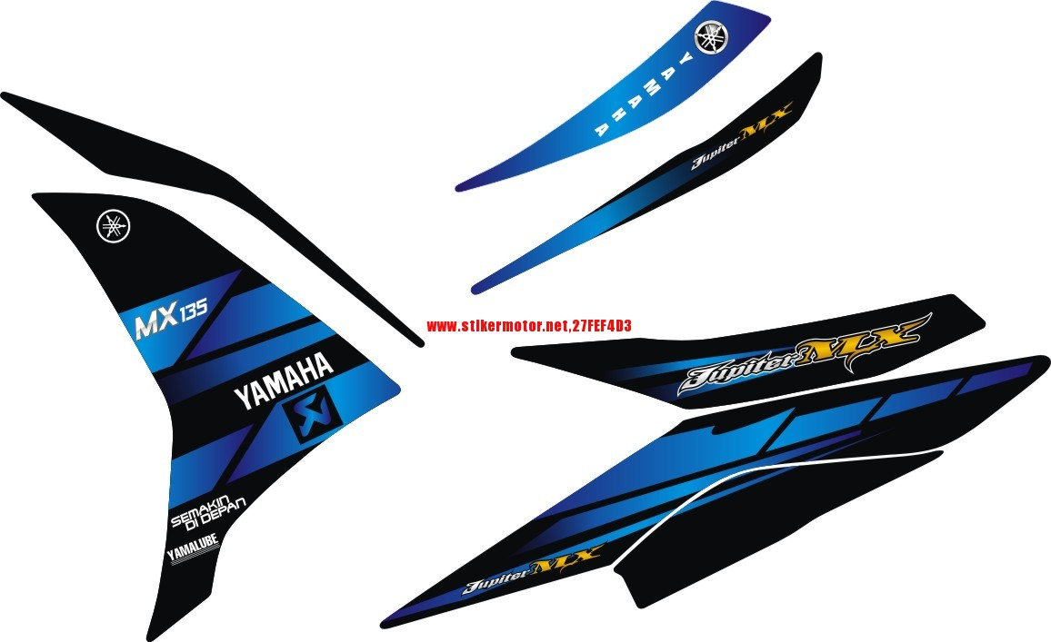striping yamaha mx blue
