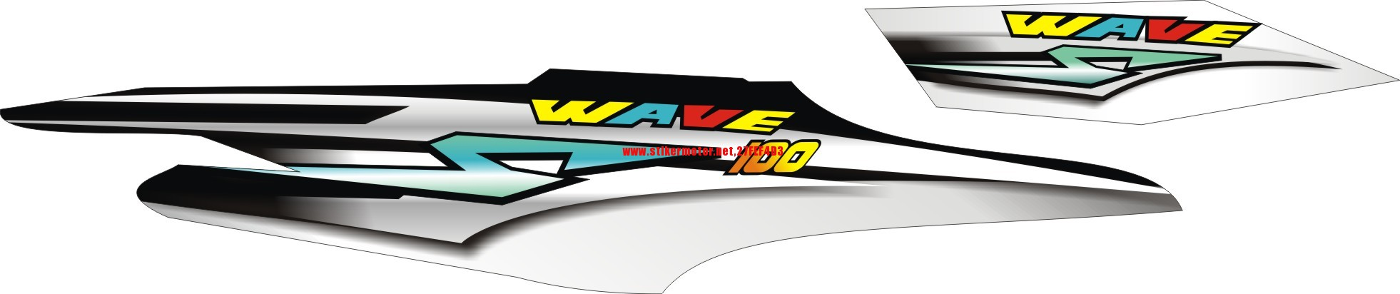 Sticker design for honda wave 100 - Striping Stiker Motor Honda Supra Fit Wave 2 Stikermotor Net Stikermotor Net