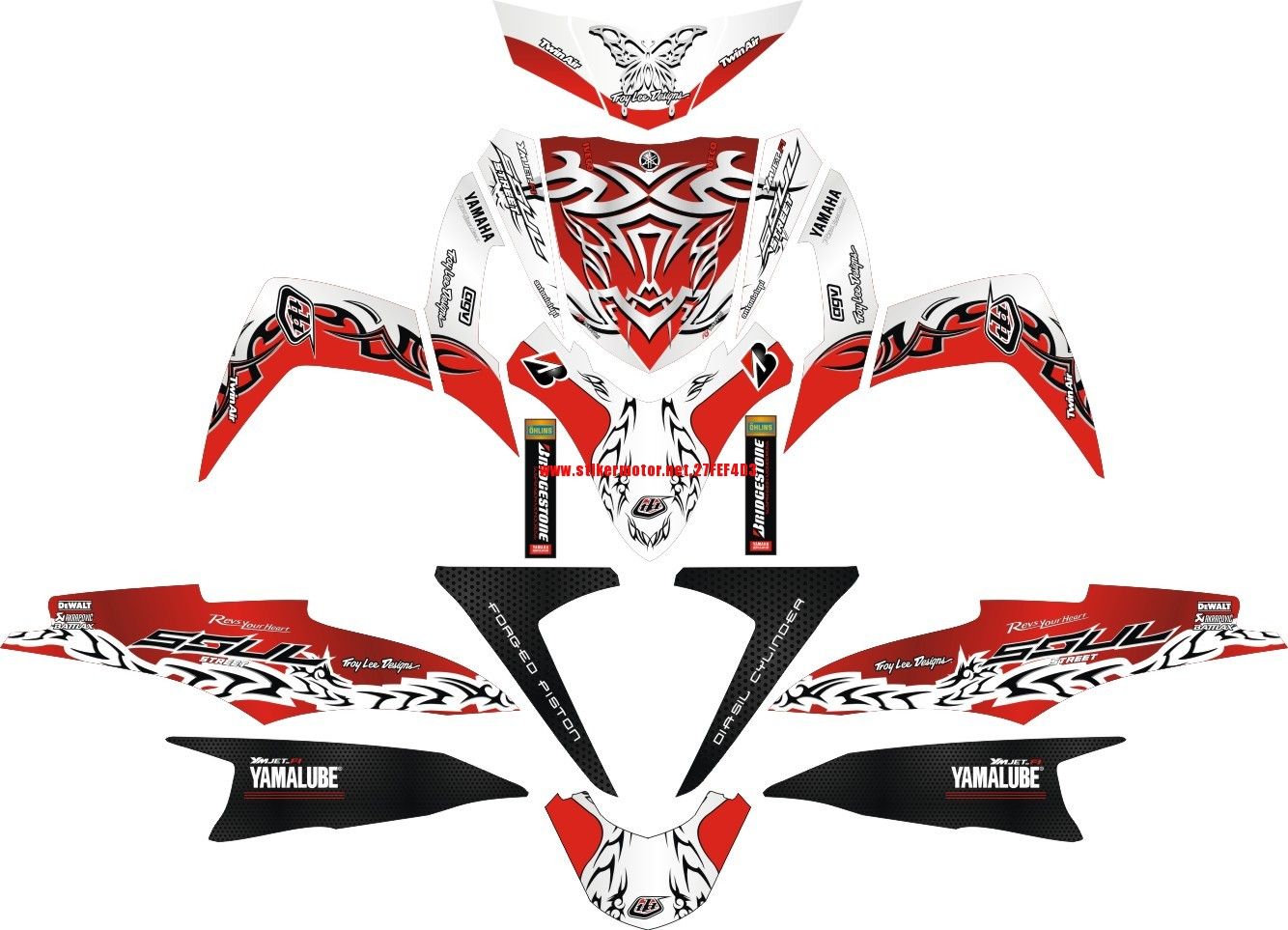 striping motor yamaha Soul GT tribal