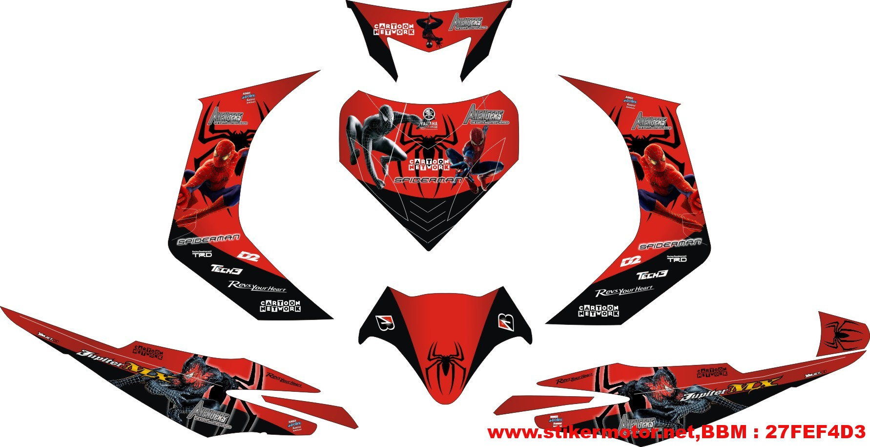striping motor jupiter mx spiderman