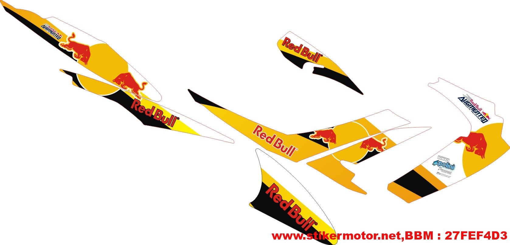 Cutting Sticker Motor Satria Fu Redbull Stikermotor Net Customize