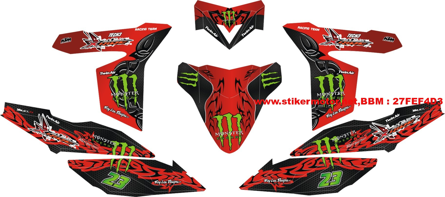 striping motor xride monster