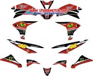 striping motor honda CS1 movistar red