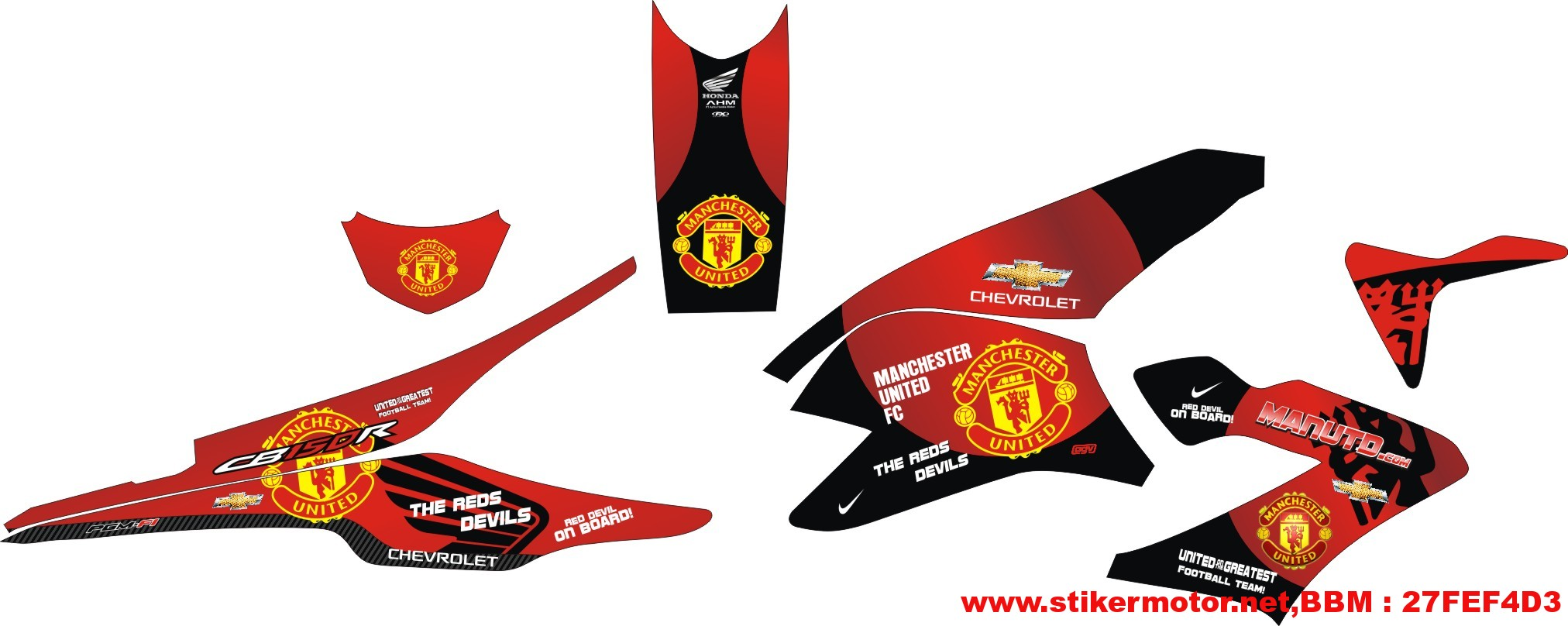 striping modifikasi honda cb150 Manchester United