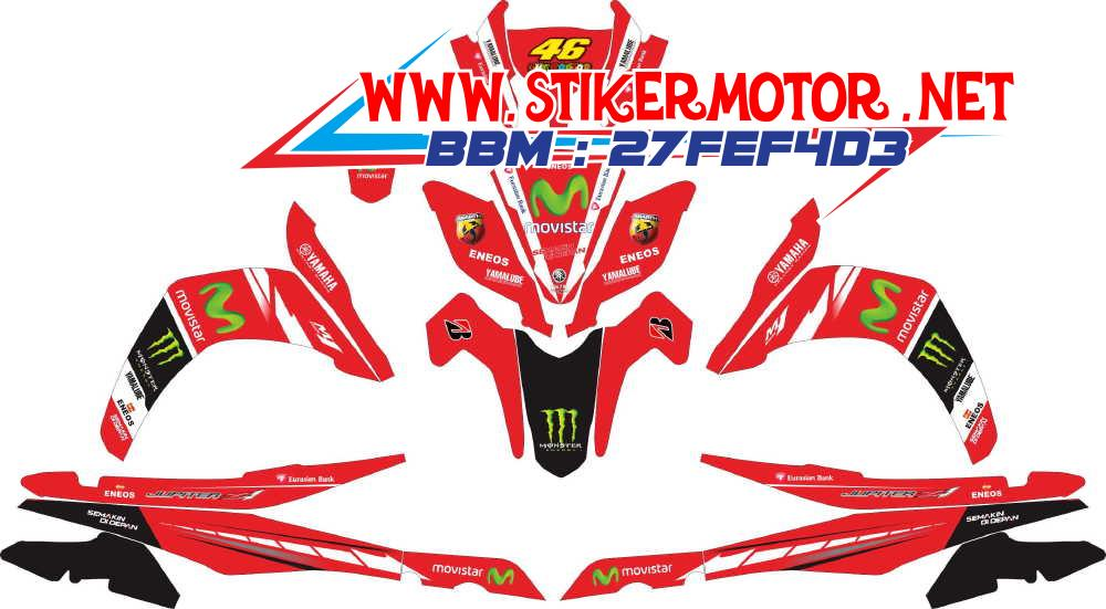 striping motor JUPITER Z1 moviestar merah