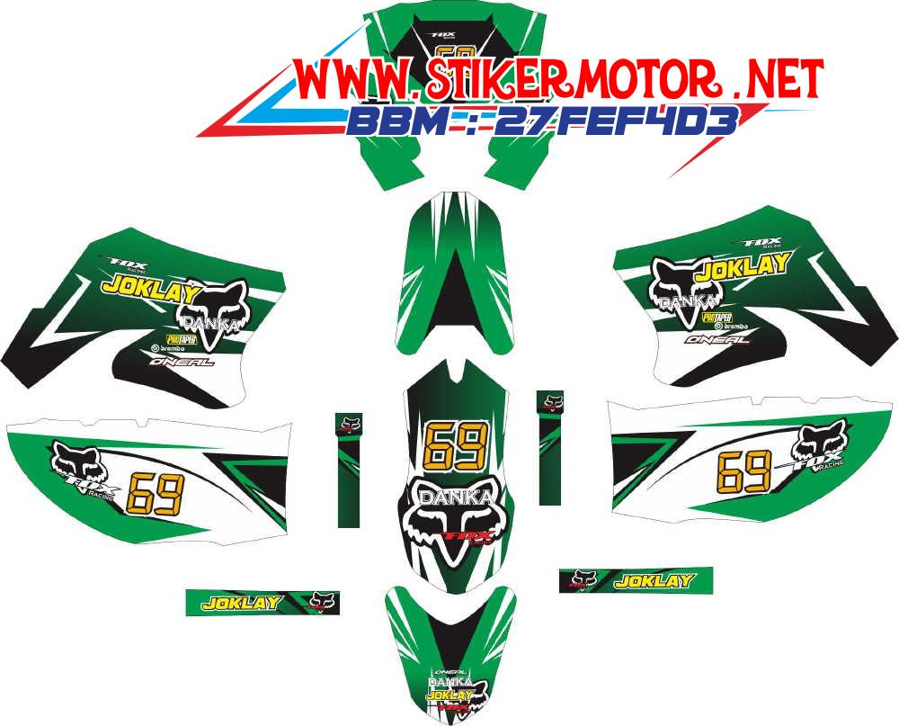 striping motor klx monster FOX green full