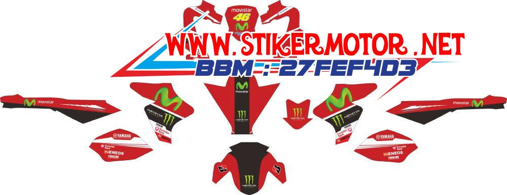 striping motor New Vxion movistar fb red