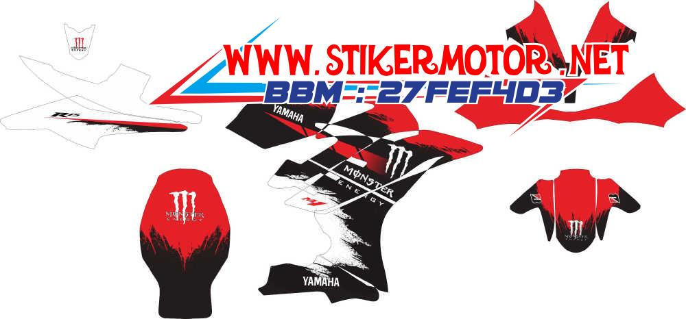 striping motor R15 monster energy merah
