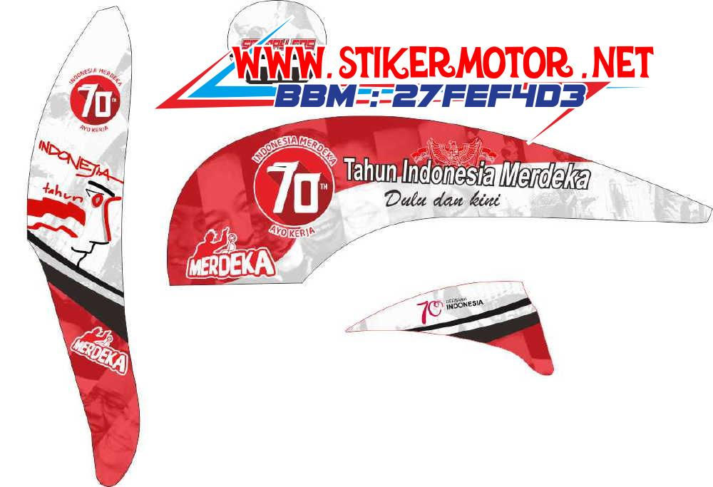 striping motor SCOOPY 70TH INDONESIA
