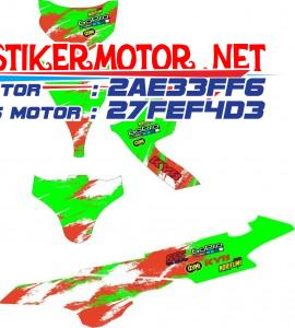 striping motor SKY WAVE racing hijau