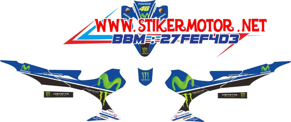 striping motor Satria fu movistar