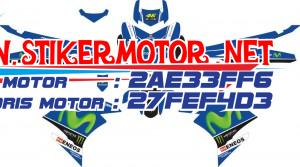 striping motor YAMAHA MX KING movistar