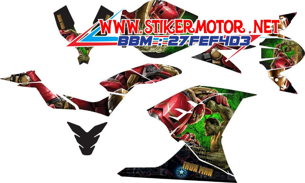 striping motor ninja 250 fi iron man