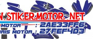 striping motor yamaha R25 biohazard blue