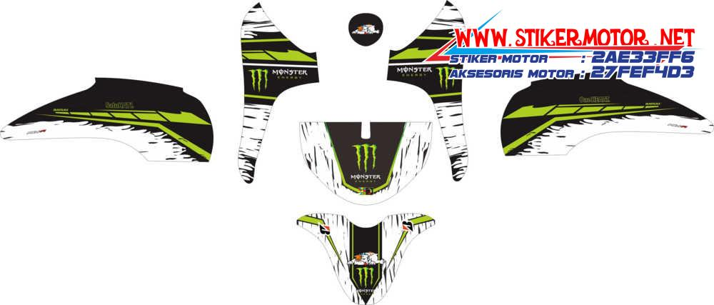 striping motor honda Scoopy monster energy