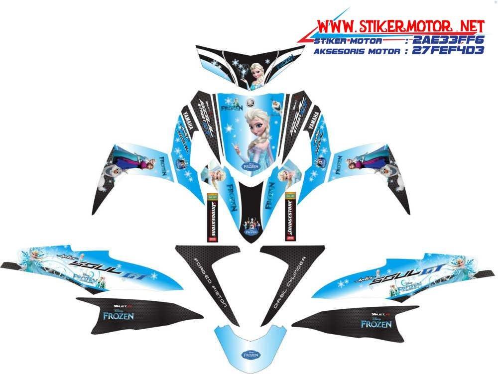 striping motor yamaha Soul GT moviestar frozen