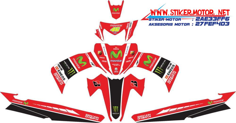 striping motor yamaha Vega ZR movistar merah