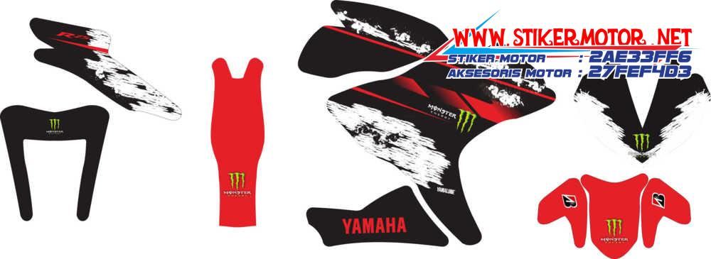 striping motor yamaha r25 monster energy
