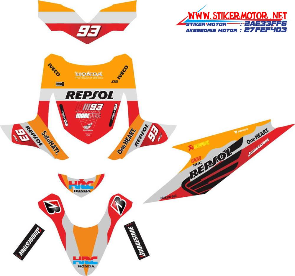 striping motor honda beat repsol 4