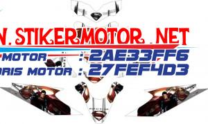 striping motor honda beat superman man of steel v3