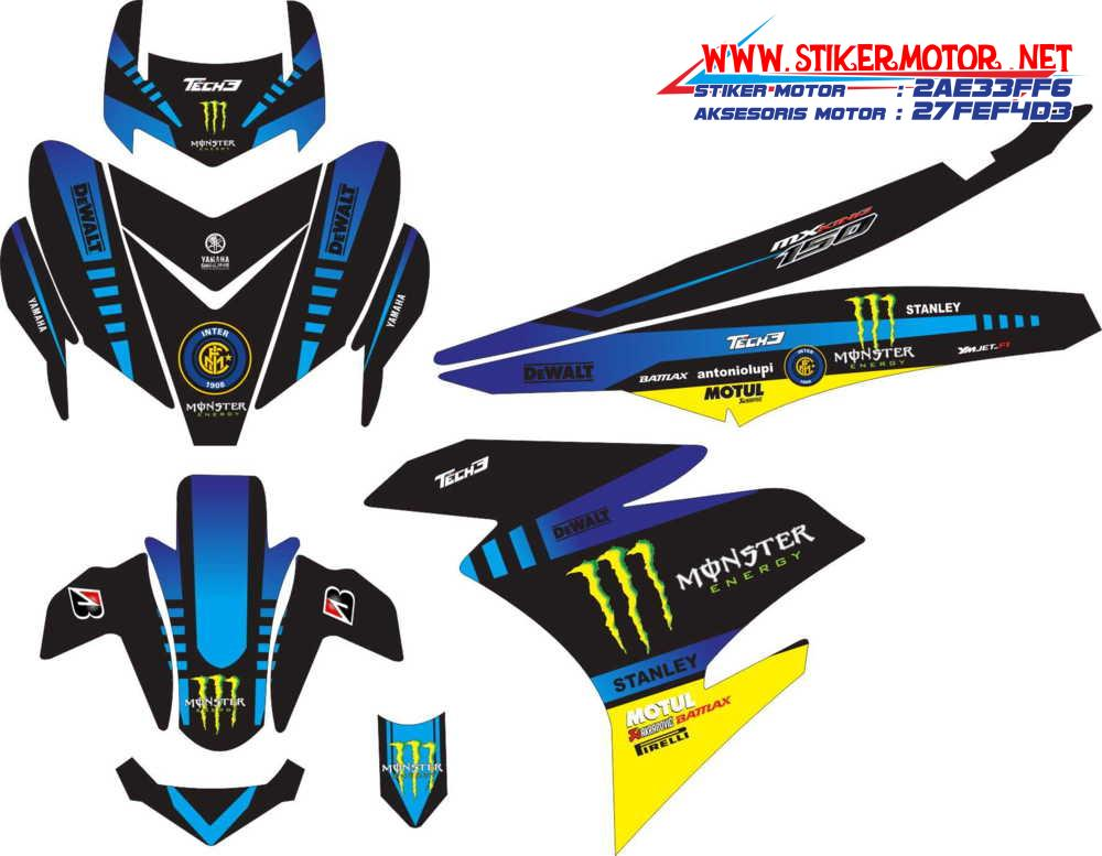 striping motor yamaha mx king monster energy tech 3 blue