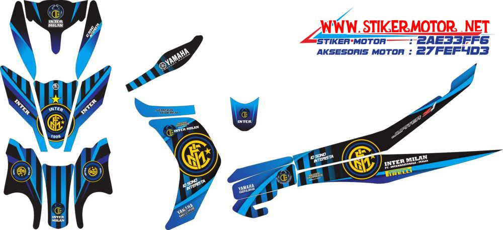 striping motor yamaha new jupiter inter milan