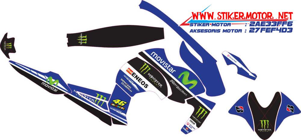 striping motor yamaha byson movistar blue