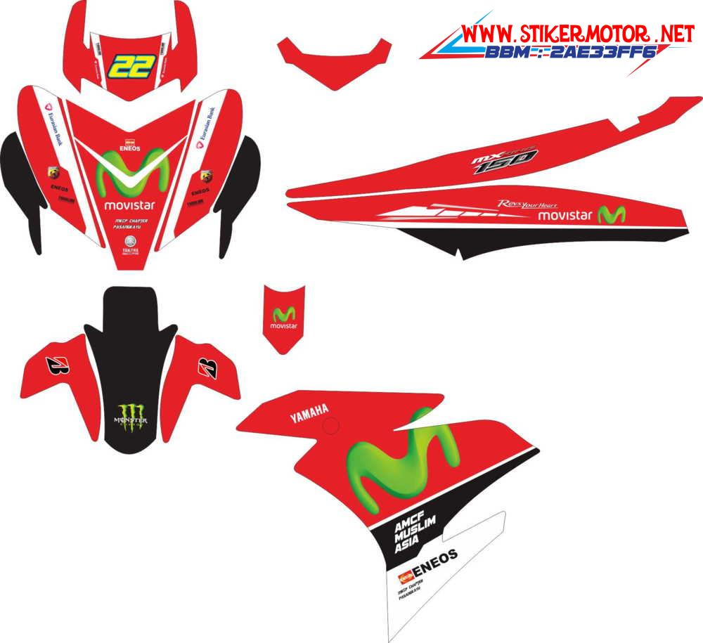 yamaha mx king movistar red