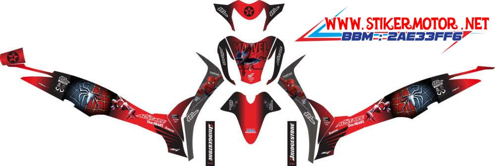 supra x 125 fi spiderman