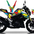 STICKER STRIPING DECAL MOTOR yamaha xabre vr46 sun&moon