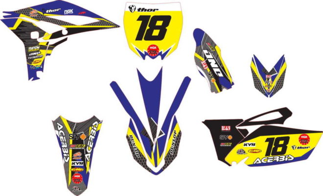 STICKER STRIPING DECAL MOTOR yz 250 decal 2