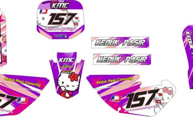 STICKER STRIPING DECAL MOTOR yz 85 hello kitty