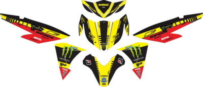 Stiker NEW SOUL GT 125 monster energy tech 3 full