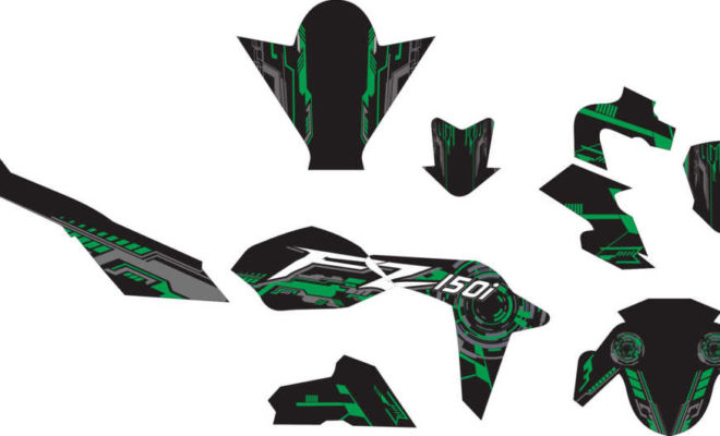 Stiker NEW ViXION advance hi-tech green