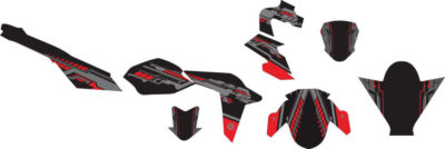 Stiker NEW ViXION advance hi-tech red