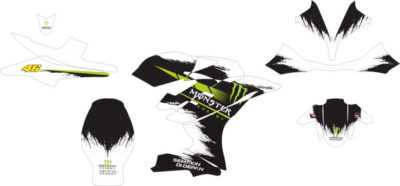 Stiker R15 monster energy vr46