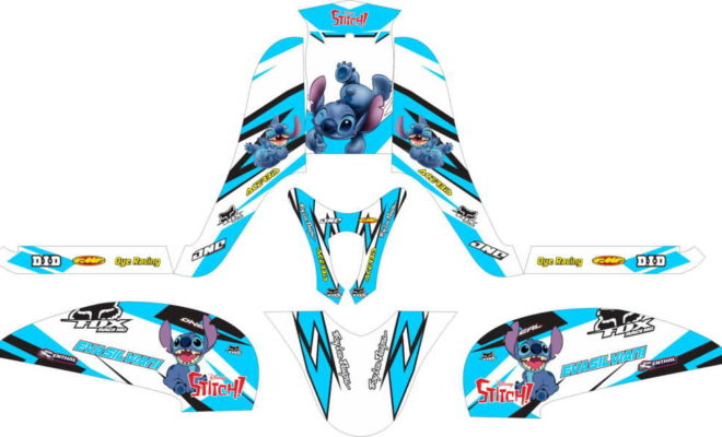 Stiker Motor Scoopy fi stitch racing