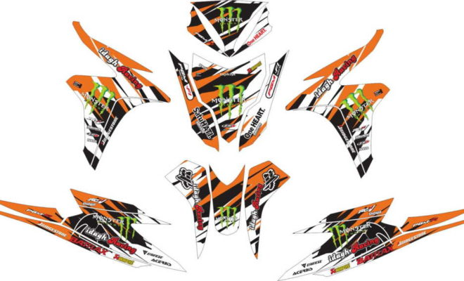 Stiker Motor VARIO TECHNO 125 FI monster energy 2