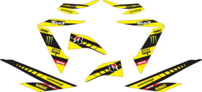 Stiker new Soul GT 125 monster energy tech 3