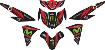 Stiker new Soul GT 125 movistar lorenso