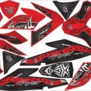 Stiker new soul gt 125 blue core tribal final