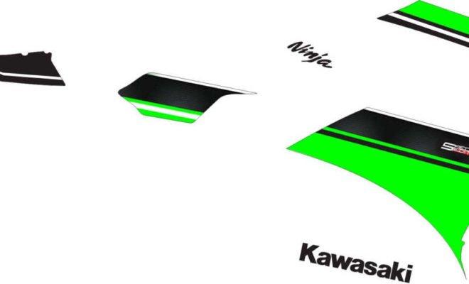 Stiker ninja fi 250 abs hijau