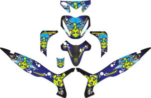 Stiker revo fit vr46 agv shark