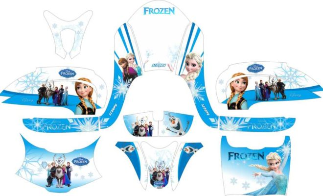 Decal stiker Motor scoopy fi frozen v2