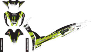 Stiker Motor supra x 125 fi monster energy