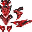 Stiker motor vario esp 125-150 red devil