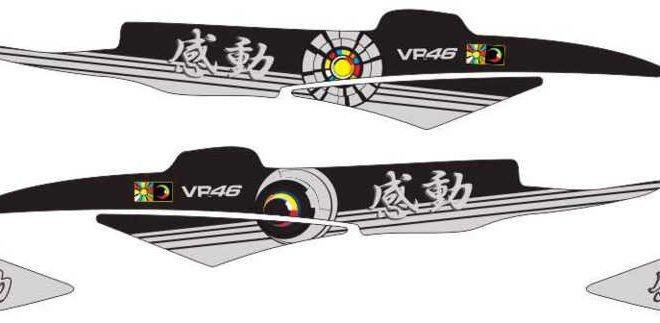 Stiker Motor xeon rossi sun&moon kando japan